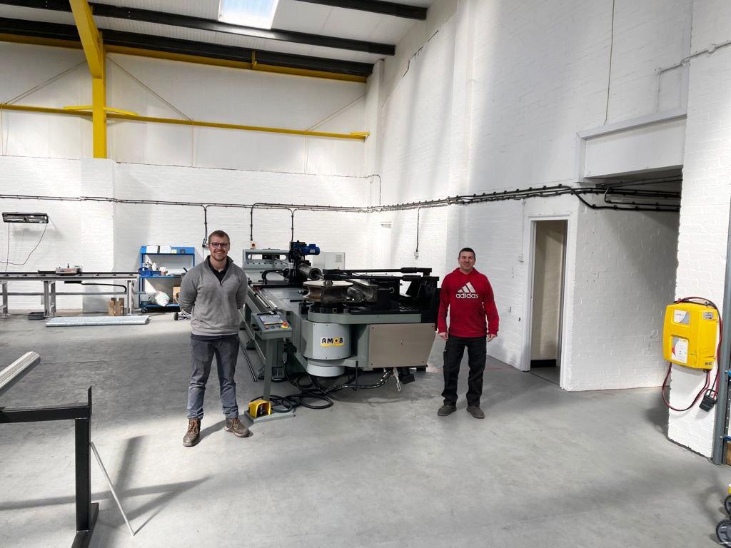 Recent install of a brand-new mandrel bending machine CH-120-CN2